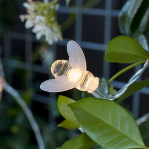 20 Bee Solar Fairy Lights