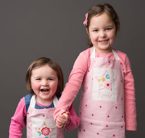 Personalised Girls Star Apron - baking