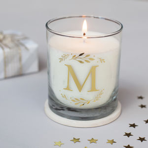 Monogram Personalised Candle