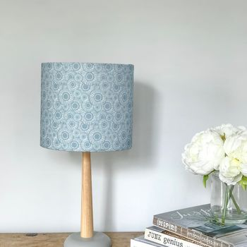 Drum Lampshade In Periwinkle Blue Linen