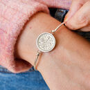 60th Birthday 1961 Sixpence Coin Bangle Bracelet