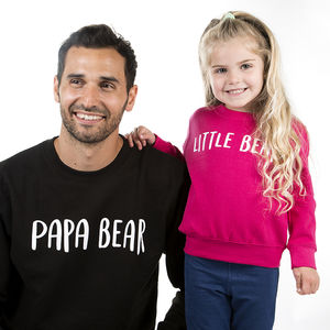 Dad And Me Bear Sweatshirt Jumper Set
