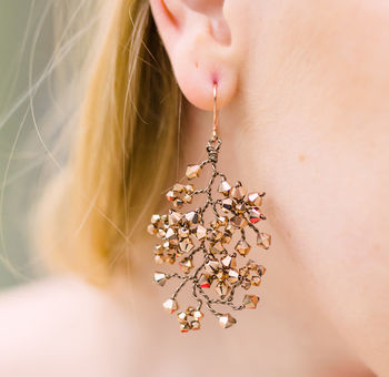 Violette Rose Gold Chandelier Earrings
