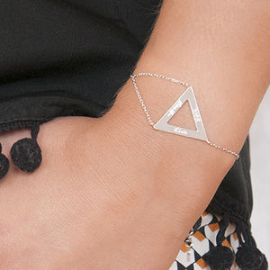 Personalised Triangle Chain Bracelet - contemporary jewellery