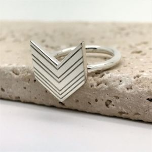 Art Deco Arrow Ring - new lines added