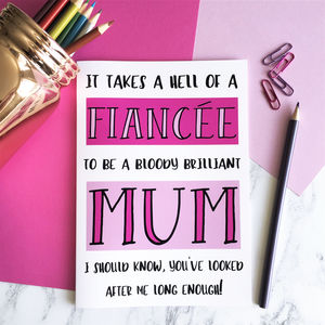 Funny Mother's Day A5 Card For Fiancée