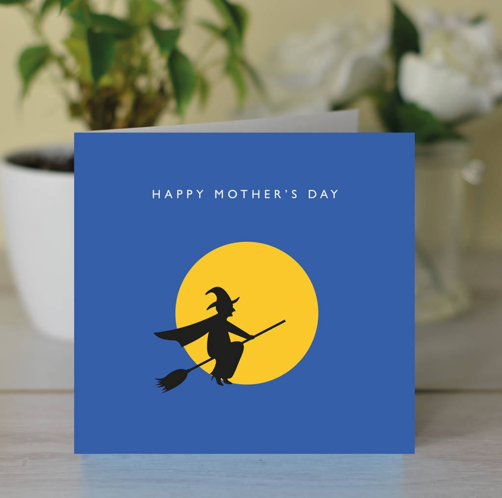 happy mother u0027s day u0027 witch and moon card by loveday designs