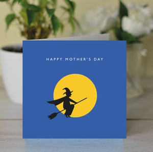 'Happy Mother's Day' Witch And Moon Card