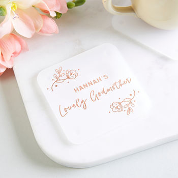 Godmother Gift Personalised Foil Coaster