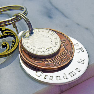 'Grandma And Me' Keyring - gifts for grandmothers