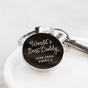 Personalised World's Best Daddy Keyring