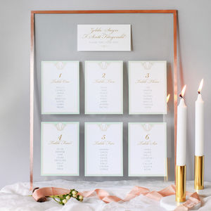 Long Island Table Plan And Table Number Cards - table plans
