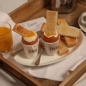 Marble Personalised Egg Cups - gifts for couples