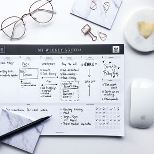 My Weekly Agenda | A4 Undated Weekly Notepad | Planner