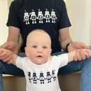 Father And Child Robot T Shirt Set