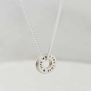 Personalised Sterling Silver Story Necklace