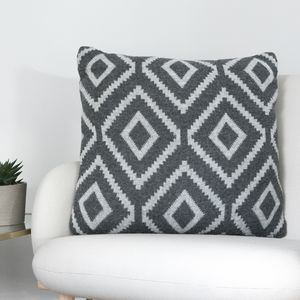 Lambswool Grey Cushion - cushions
