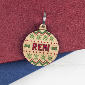 Christmas Bauble Dog Tag Decoration