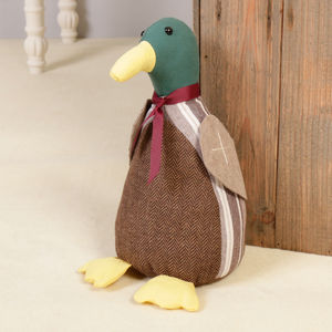 Daphne The Duck Fabric Door Stop - baby's room