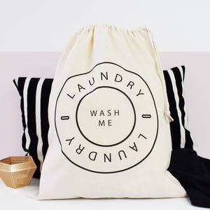 Home And Travel Laundry Bag, Wash Me - bedroom