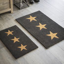 Doormat Three Stars In Charcoal