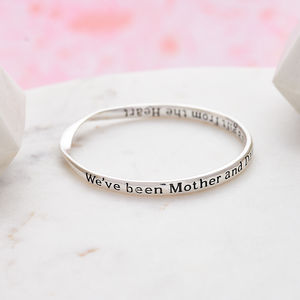 Mother And Daughter Quote Message Bangle - bracelets & bangles