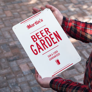 Personalised Beer Garden Metal Sign