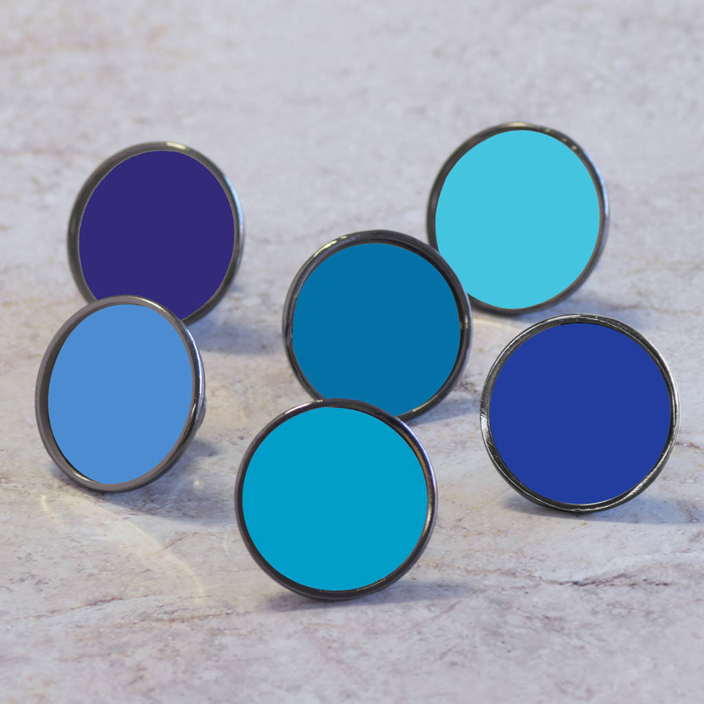 blue colourful cupboard door knobs by pushka home ...