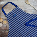 'Blue Striped' Cotton Apron