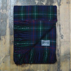Recycled Wool Blanket In Mackenzie Tartan - decorative accessories