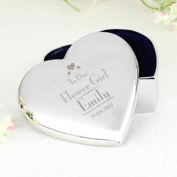 Personalised Bridesmaid/Flower Girl Trinket Box