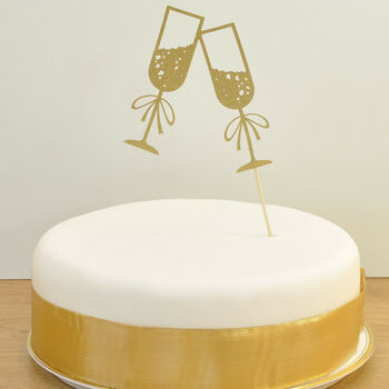 Champagne Glasses Celebration Cake Topper