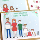 Personalised Family Portrait Christmas Card Pack