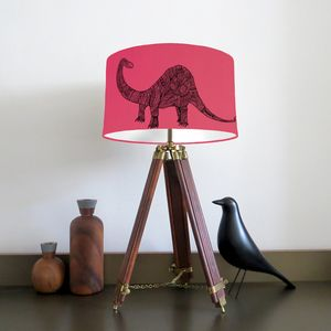 Dinosaur Lampshade With Fifteen Fabric Colour Options - children's lighting