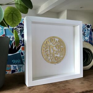 Golden Wedding Bird Paper Cut