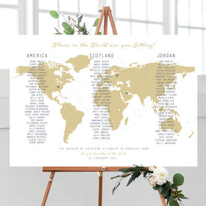 Where In The World Am I Sitting Map Table Plan