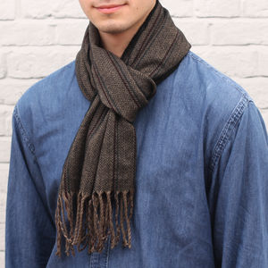 Personalised Soft And Warm Men's Stripe Scarf