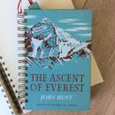 'Ascent Of Everest' Upcycled Notebook