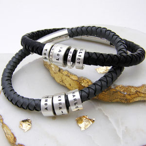 Personalised Mens Hoop Bracelet - jewellery