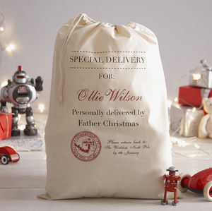 Personalised Christmas Santa Sack - engagement gifts