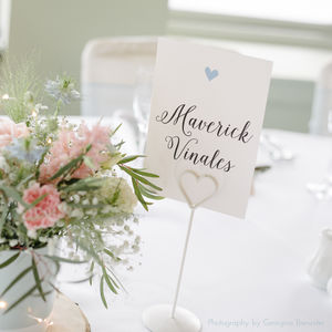 Pearl Table Cards - table decorations