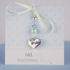 Something Blue Brides Heart Charm - charm jewellery