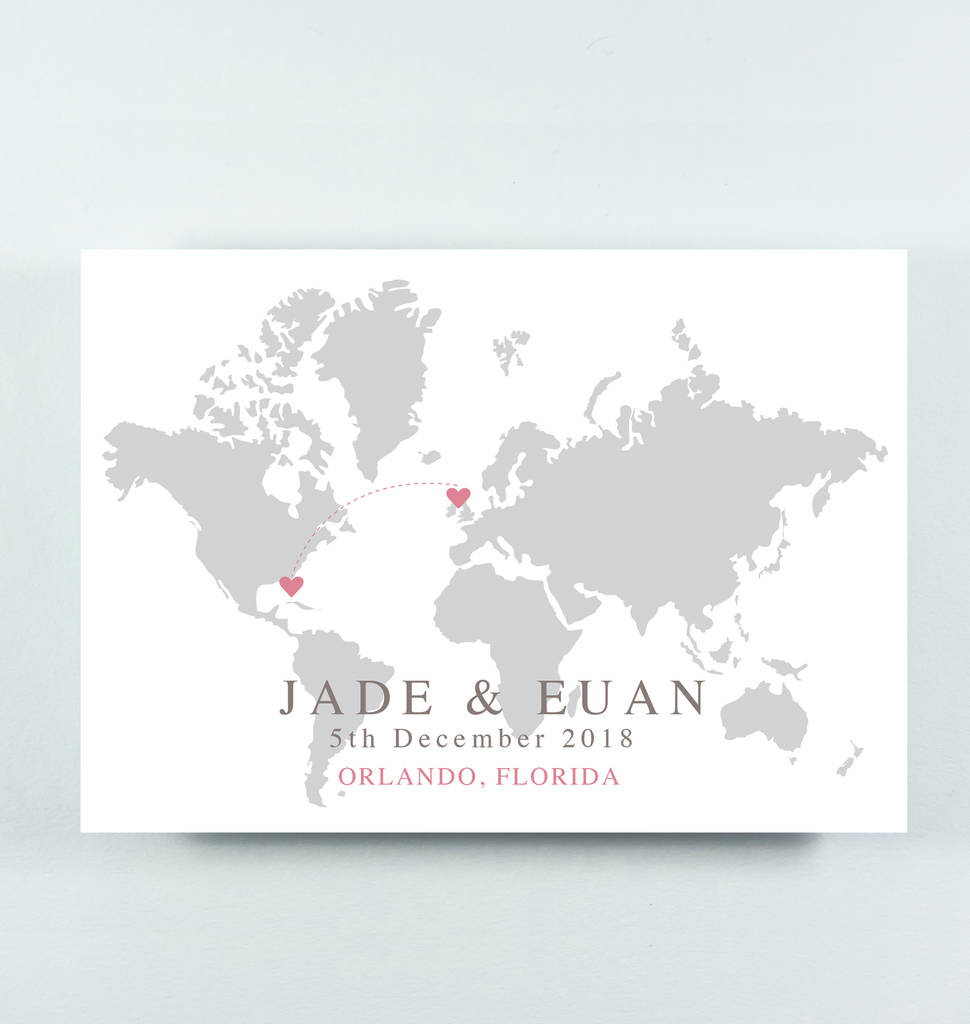 Wedding Invitations With Maps: Map Wedding Invitation 'jade' By Paper And Inc