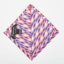 Pink Geometric Print Pocket Square