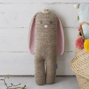Princess Bunny Soft Knit Toy