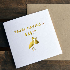 Paper Cut 'You're Having A Baby!' Card