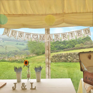 Just Married Cotton Bunting - bunting & garlands
