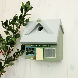 Personalised Tennis Club Bird Box
