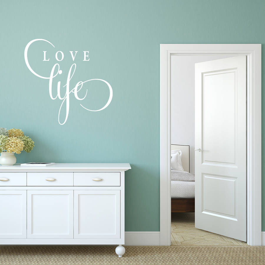 Love life quote wall sticker by mirrorin notonthehighstreet love life quote wall sticker amipublicfo Images