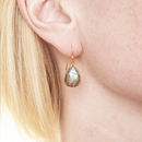 Ashiana Gold And Labradorite Earrings